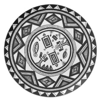 Tribal Spirits Party Plate