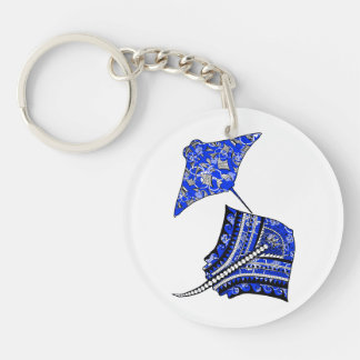 Tribal Stingrays Keychain