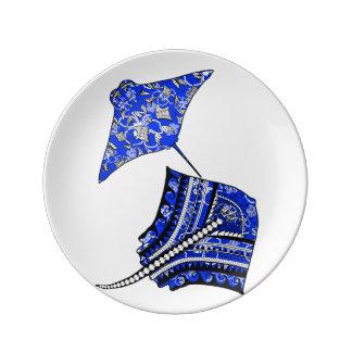 Tribal Stingrays Plate
