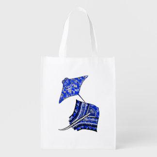 Tribal Stingrays Reusable Grocery Bag