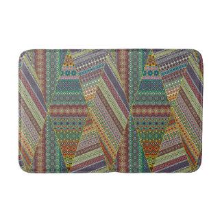 Tribal striped abstract pattern design bath mat