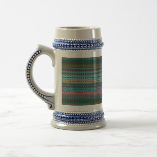 Tribal striped abstract pattern design beer stein