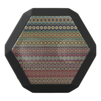 Tribal striped abstract pattern design black bluetooth speaker