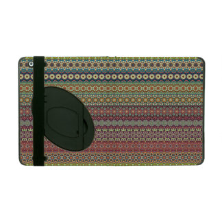 Tribal striped abstract pattern design iPad cover