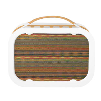 Tribal striped abstract pattern design lunch box
