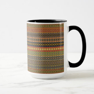 Tribal striped abstract pattern design mug