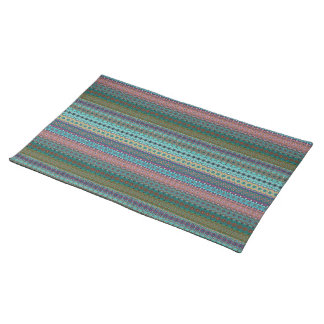 Tribal striped abstract pattern design placemat