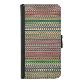 Tribal striped abstract pattern design samsung galaxy s5 wallet case