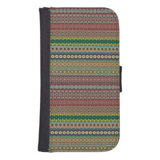 Tribal striped abstract pattern design samsung s4 wallet case
