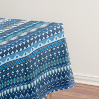 Tribal striped abstract pattern design tablecloth
