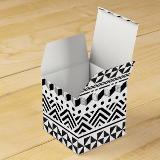 Tribal Stripes Black White Modern Aztec Geometric Party Favor Boxes