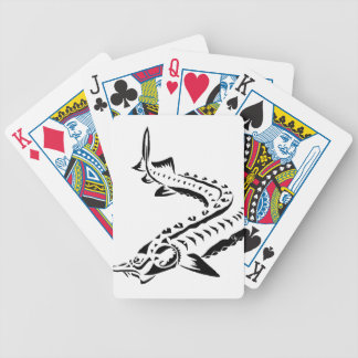 Tribal Sturgeon - Huso Beluga Bicycle Playing Cards