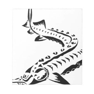 Tribal Sturgeon - Huso Beluga Notepad