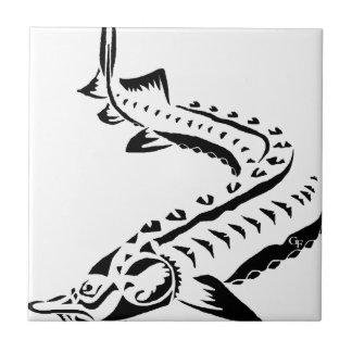 Tribal Sturgeon - Huso Beluga Tile