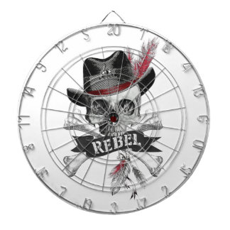 Tribal style gothic skull with feather crown Graph Dartboard