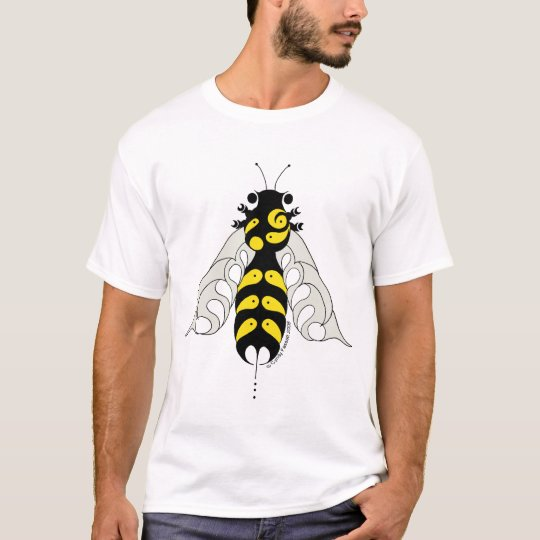 Tribal style honeybee tee