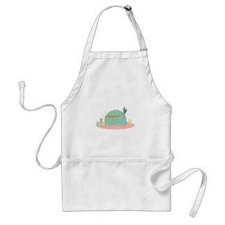 tribal style mushroom monster standard apron