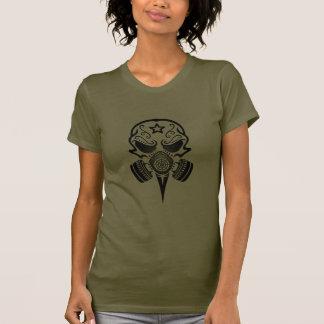 Tribal Sugar Skull with Gas Mask (black) T-shirt