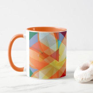 Tribal Summer Flower Garden Mug