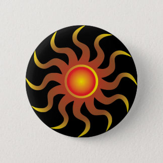 Tribal Sun 2 Inch Round Button