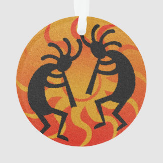 Tribal Sun Dancing Kokopelli Southwest Christmas Ornament