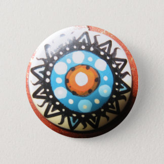 Tribal Sun Handmade 2 Inch Round Button
