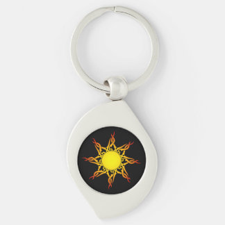 Tribal Sun Keychain