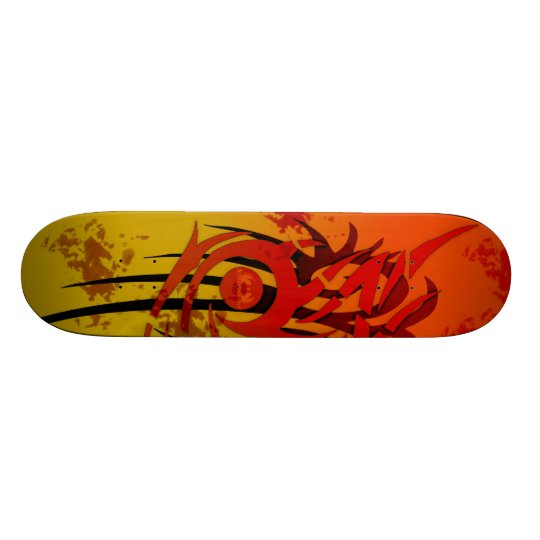 Tribal Sunset - Custom Skateboard