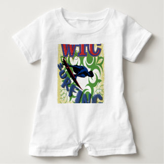 Tribal surfing baby romper