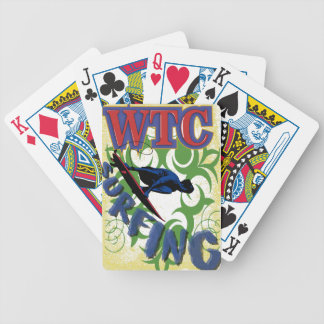 Tribal surfing bicycle playing cards