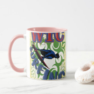 Tribal surfing mug