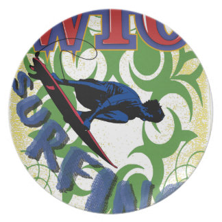 Tribal surfing plate