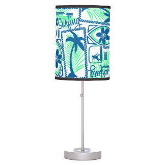 Tribal surfing table lamp