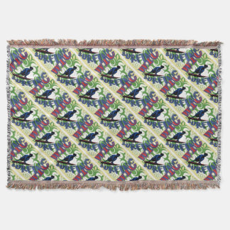 Tribal surfing throw blanket