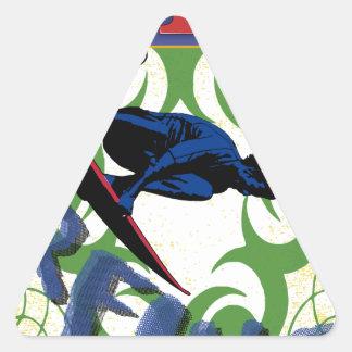 Tribal surfing triangle sticker