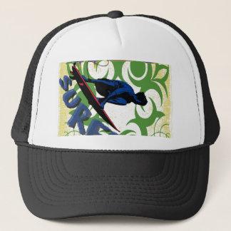 Tribal surfing trucker hat
