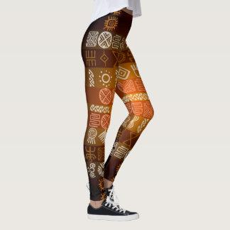 Tribal Tatoo Boho Geometric Pattern Leggings