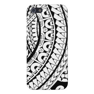 Tribal tattoo design in Marquesan patterns Case For iPhone 5/5S
