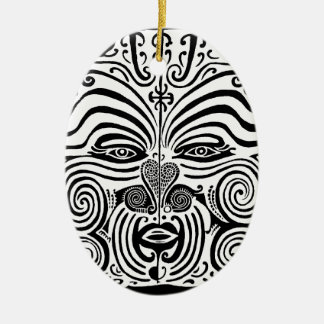 Tribal Tattoo Design - New Zealand Maori Ceramic Ornament
