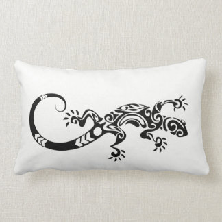TRIBAL TATTOO GECKO LIZARD REPTILE LUMBAR PILLOW