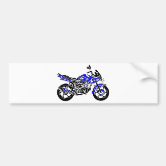 Tribal Tattoo Motorcycle Bumper Sticker