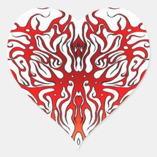 Tribal Tattoo Valentine Heart Heart Sticker