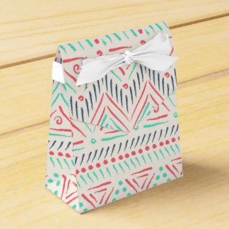 Tribal Tent Box Wedding Favor Box