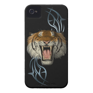 Tribal Tiger Head Case-Mate iPhone 4 Case