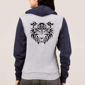 Tribal Tiger Zip Hoodie