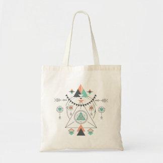 Tribal Totem Geometric Design Tote Bag