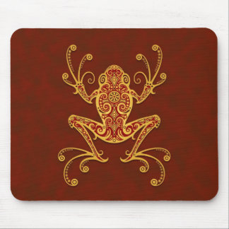 Tribal Tree Frog (golden red) Mouse Pad
