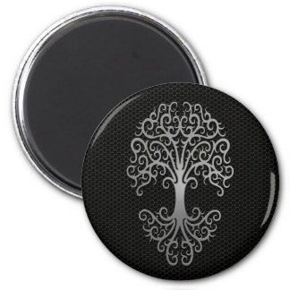 Tribal Tree of Life with Steel Mesh Effect Magnet
