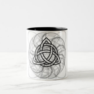 Tribal Triquetra Tattoo Two-Tone Coffee Mug