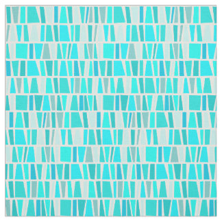 Tribal Turquoise Domino Tribal Pattern Fabric